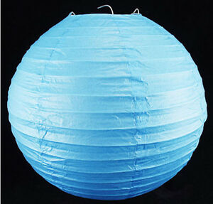 Image Is Loading 16 034 40cm Blue Paper Lanterns Lamp Shade