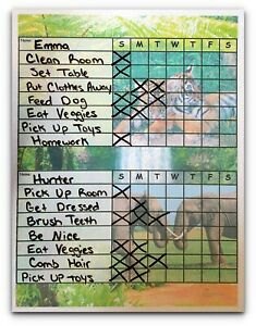 Chore-Charts-for-Multiple-Kids-2-or-3-works-as-Dry-Erase-Board-multi-themes