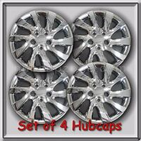 Set Of 4 Chrome 16 Bolt On Hubcaps Fits 2012-2013 Hyundai Elantra Wheel Covers