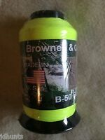 Brownell Dacron Bow String Material B-50 1/4 Pound Flo Yellow Color For 2015