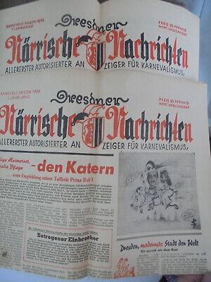 24315-1 Dresdner Närrische Nachrichten. Allererster Autorisierter Anzeiger 1956