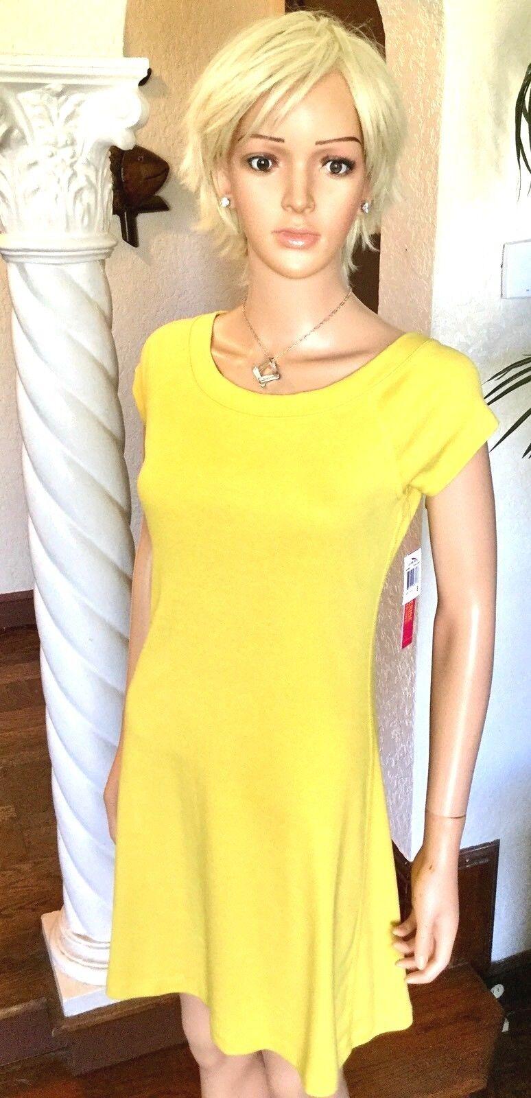 4c90e9823f6 Catherine Malandrino XL Yellow Summer Dress Cotton T-shirt Dress for ...