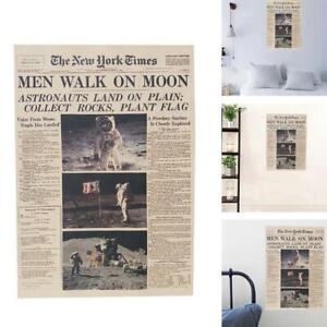 Details About The Apollo 11 Moon Landing New York Times Vintage Poster Paper Retro Room Decor