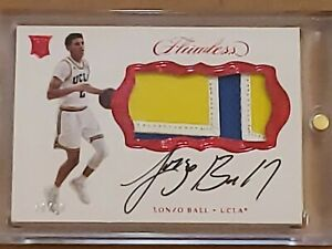 2017 Flawless Lonzo Ball Auto RC True RPA 3 Clr Rookie Patch SSP 10/20 Autograph