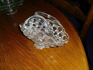ANTIQUE VICTORIAN GLASS BOAT SHAPED TWIN HANDLED BASKET RD No 153858 c18845 - Carnforth, United Kingdom - ANTIQUE VICTORIAN GLASS BOAT SHAPED TWIN HANDLED BASKET RD No 153858 c18845 - Carnforth, United Kingdom