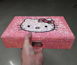 Worldwide Shipping  Hello Kitty Jewelry Boxes Handmade Crystal Shining 1pc
