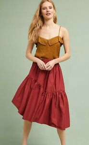 Anthropologie-5-on-7-Asymmetrical-Poplin-Skirt-Boho-Peasant-Large-UK-RRP-158