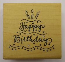 Birthday Cake Rubber Stamp by DeNami Design