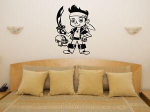 pirata-ESPADAS-Infantil-dormitorio-infantil-Arte-Pegatina-Imagen-Poster