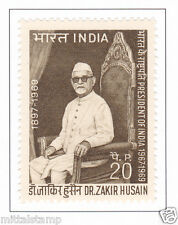 PHILA491 INDIA 1969 SINGLE MINT STAMP OF DR ZAKIR HUSAIN MNH