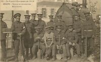 CARTE POSTALE GUERRE MILITAIRE CONFLIT EUROPEEN 1914 ANGERS SERVICE DESINFECTION