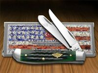 Case Xx Jigged Hunter Green Bone Mini Trapper Stainless Pocket Knives Knife on sale