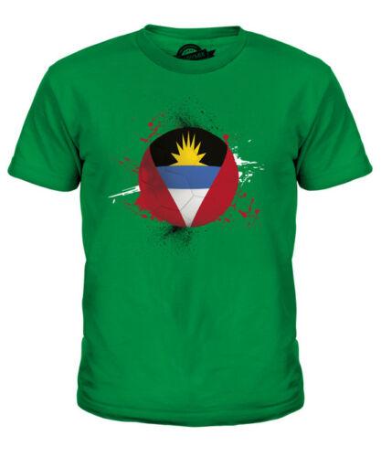 Antigua y Barbuda Fútbol Niños Camiseta Camiseta Top Copa Mundial de regalo Sport