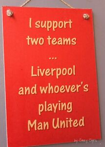 Anfield Liverpool Reds v Manchester United  EPL Football Soccer Bar Pub Sign