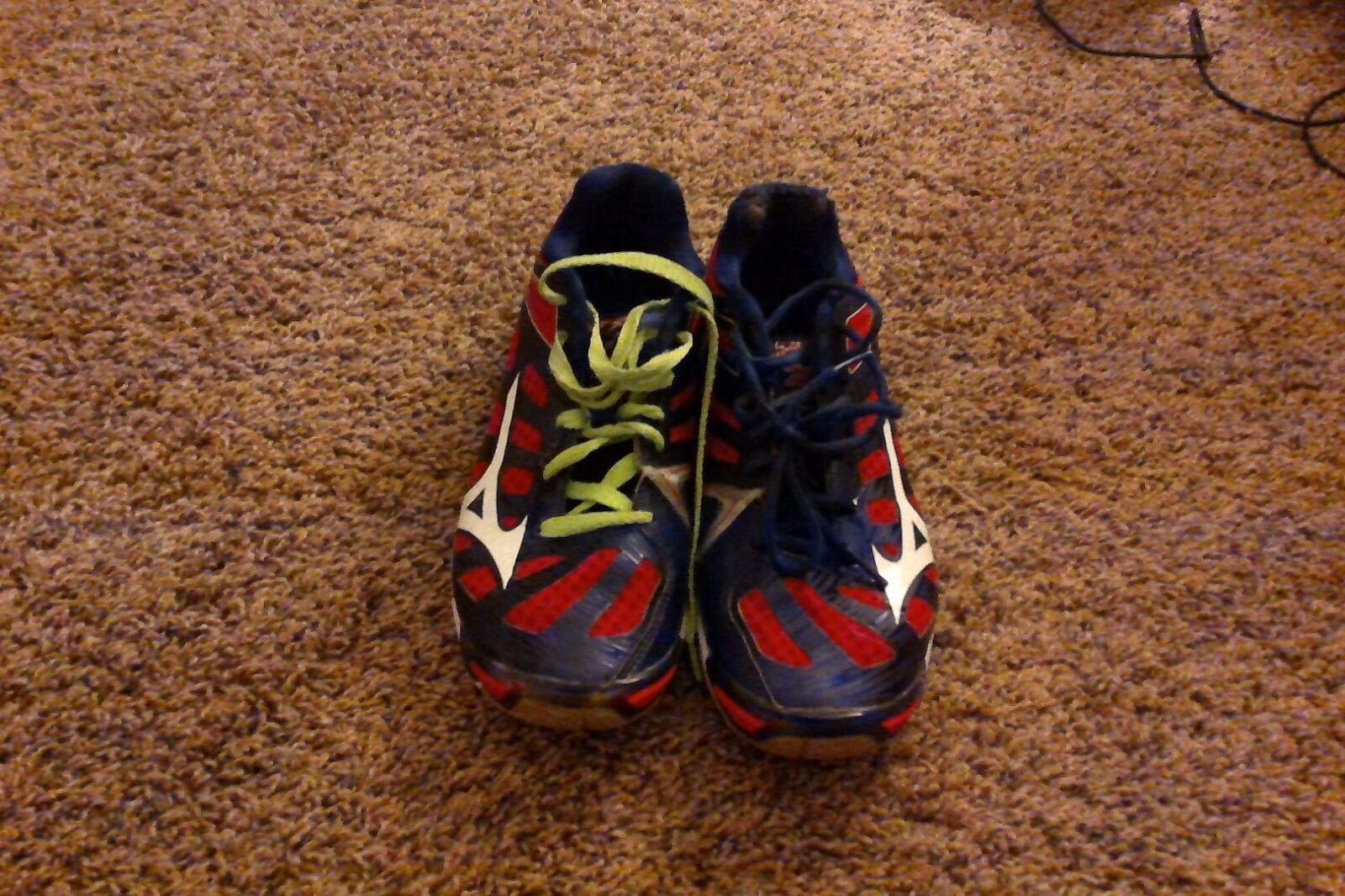 Women's Mizuno Red/White/Blue Volleyball Shoes 7.5 US