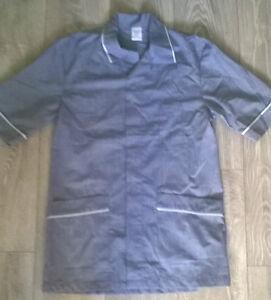 Gut Ausgebildete Mens Smart Grey White Tunic,size Small Carer Cleaner Nurse Etc New SpäTester Style-Online-Verkauf Von 2019 50% Nhs Salon