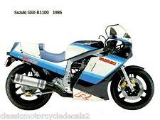 SUZUKI GSXR-1100G PAINTWORK RESTORATION DECAL SET 1986