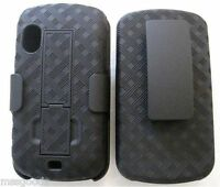 Black Extended Battery Belt Clip Holster Case For Samsung Stratosphere I405