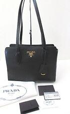 Prada Vitello Phenix Black Tote Bag Handbag  New with Tags 1BG112