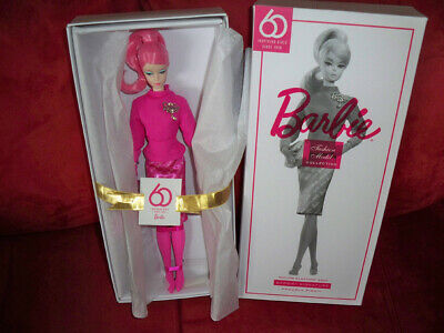 GLOVES ~ MATTEL BARBIE DOLL PROUDLY PINK 60TH ANNIVERSARY SILKSTONE ACCESSORY