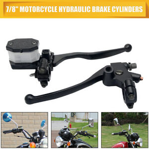 Pair-7-8-039-039-Motorcycle-Hydraulic-Brake-Clutch-Lever-Master-Cylinder-Reservoir