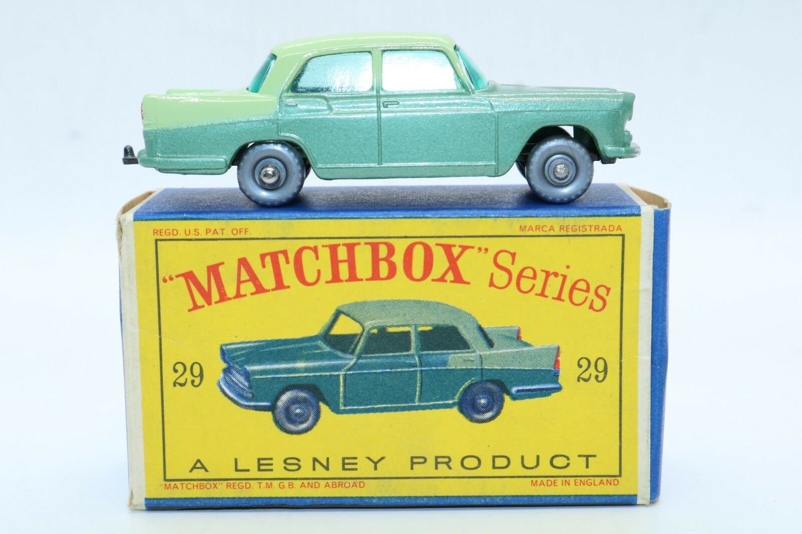 Matchbox Lesney No 29 Austin A55 Cambridge-hecho En Inglaterra-nos Carro