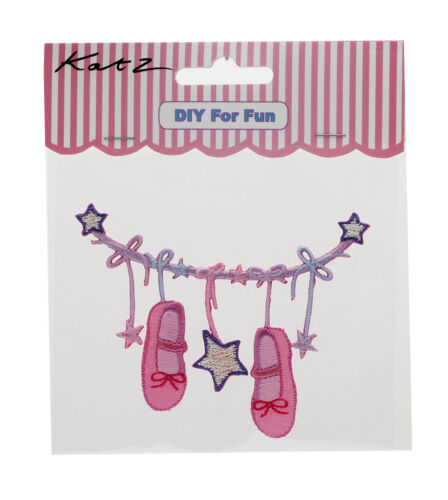 Pink Ballet Iron On Motif Christmas Birthday Stocking Filler MOT-1 By Katz