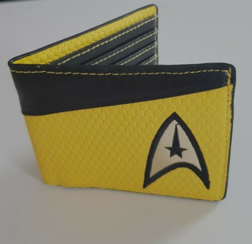 NEW Official Star Trek Yellow ID Pocket BiFold Wallet Command Shirt Badge