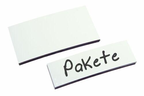 EICHNER 100x Magnet-Lagerschilder weiß Lagerkennzeichnung Regalkennzeichnung