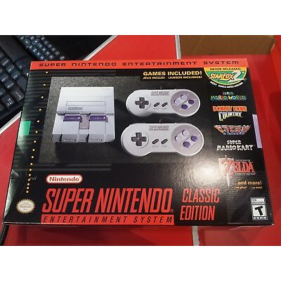 SNES Super Nintendo Entertainment System Classic Edition Mini console Brand New