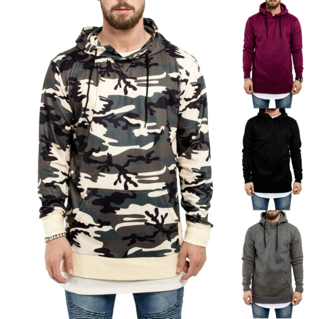 Phoenix Side Zip Hoodie Herren Zipper Camouflage Oversize Pullover Sweater Men