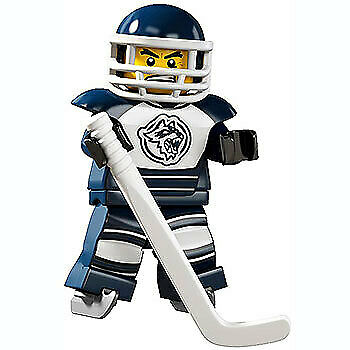 Lego 8804 Minifigure Series 4 No 8 Hockey Player New in Opened Packaging New