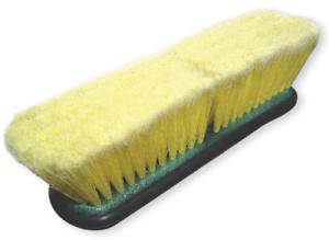Laver brosse standard autowaschbürste jaune avec filetage Accueil souple soies NEUF