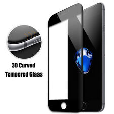 NEW 3D Curved Full Cover Black Tempered Glass Screen Protector For iPhone 7 Plus