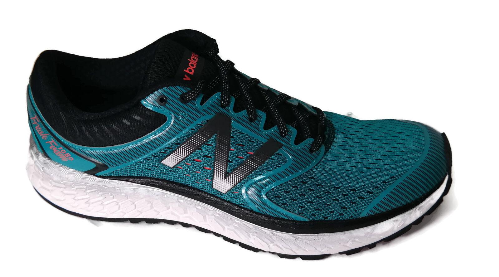 New Balance Men's 1080V7 Running-Shoes, Pisces/Black, 9 D US