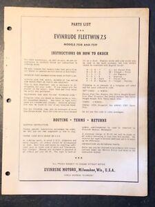 1955-Evinrude-Fleetwin-7-5hp-7518-amp-7519-Outboard-Motor-Parts-Catalog-Manual