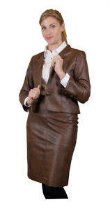 Faux-Leather-Brown-Suit