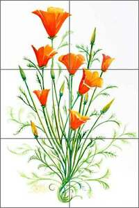 Ceramic-Tile-Mural-Backsplash-Libby-Poppy-Flowers-Floral-Art-SLA042