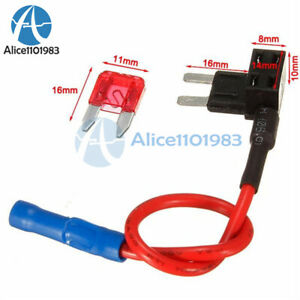 details about 12v car add a circuit fuse tap adapter mini atm apm auto 10a blade fuse holder  circuit fuse tap adapter mini