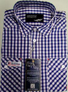 NUEVO-hombre-manga-corta-Camisa-De-Cuadros-Azul-Marino-Blanco-Cuello-KENT-100