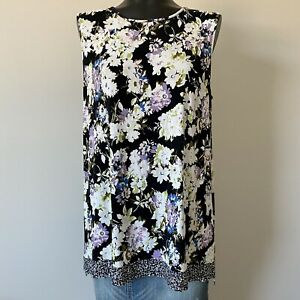 Large-Womans-J-Jill-Wearever-Collection-Floral-Tank-Top