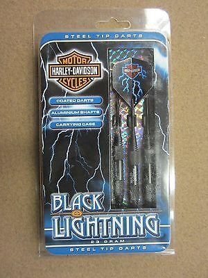 Harley Davidson Black Lightning 23g Steel Tip Darts 60231 w/ FREE Shipping