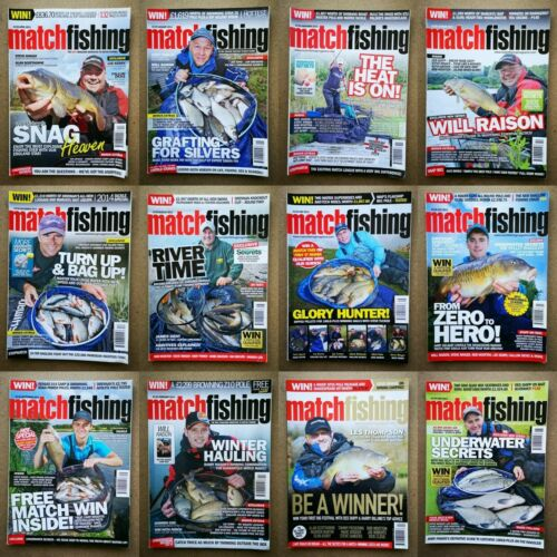 Magazine-Match-Fishing-Angling-Contents-Index-Shown-Various-Issues