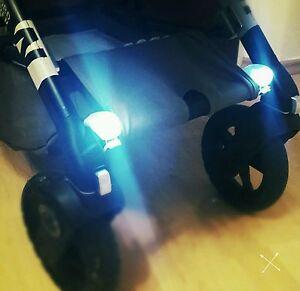 kinderwagen beleuchtung led set buggy kinderwagenlicht lampe fahrrad silikon ebay. Black Bedroom Furniture Sets. Home Design Ideas