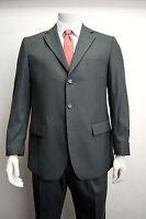 Men's Charcoal Gray 3 Button Wool Blend Dress Suit Size 44R NEW Suit
