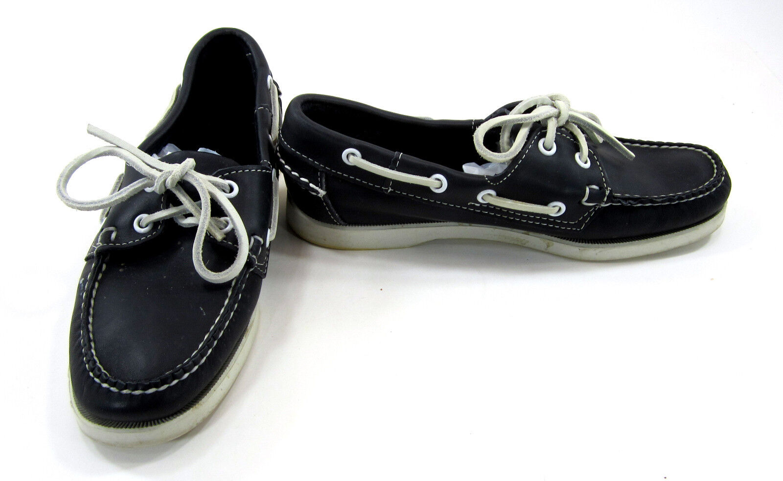 Debago Docksides Leather Lo Topsiders  noir  Boat  Chaussures  femmes  6.5