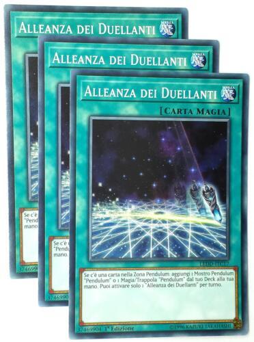 Set 3X ALLEANZA DEI DUELLANTI  LEDD-ITC17 Magia Comune in Italiano YUGIOH