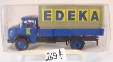 Brekina 1/87 47005 Mercedes Benz L322 LKW Pritsche/Plane EDEKA OVP #2694