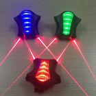 Bicicletta Posteriore Emergenza Segnale Luci 5 LED E 2 Laser Lampeggiante