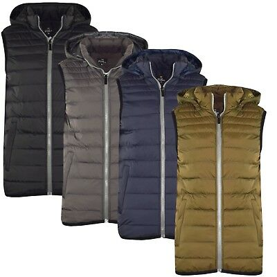 Mens Quilted Padded Lined Gillet Gilet Outdoor Sleeveless Coat Bodywarmer Jkt